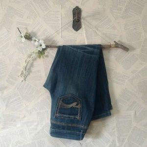 Mossimo Medium Wash Skinny Jeans 13 Fit 6 EUC
